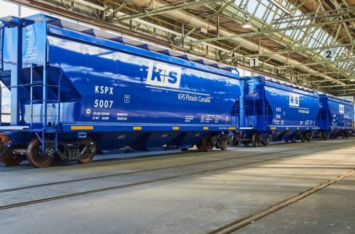 Канадское отделение компании K+S AG получило первую партию новых вагонов по транспортировке поташа