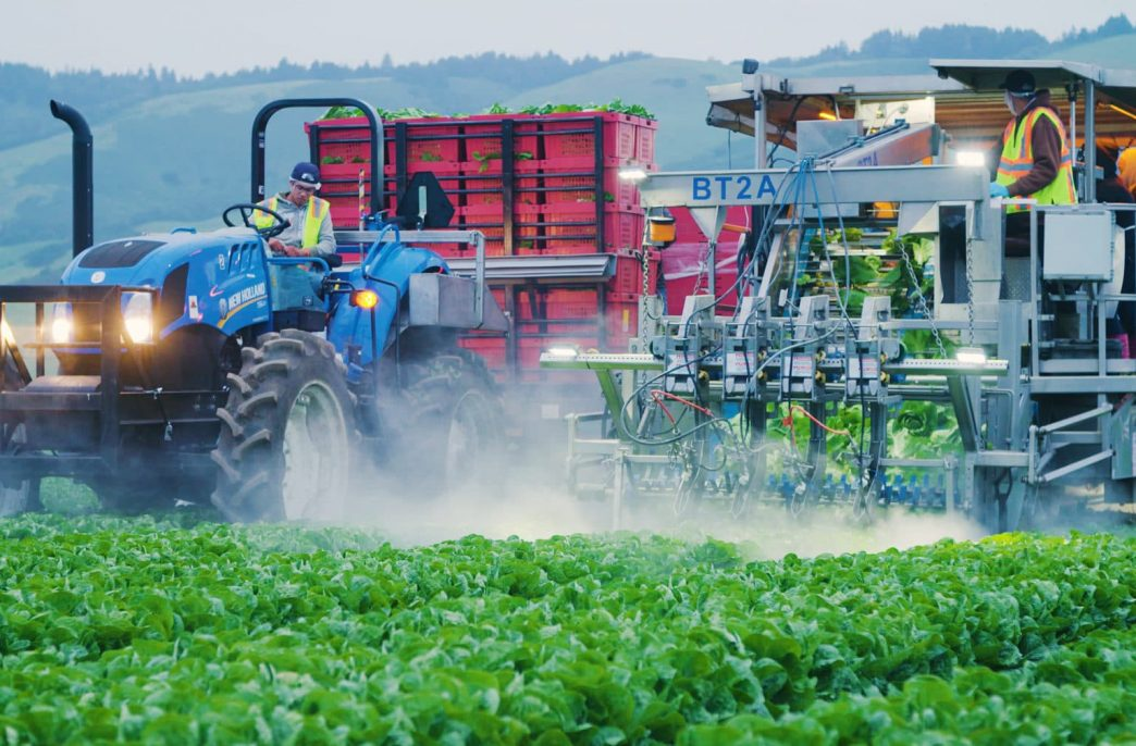 В Калифорнии для сбора урожая вышли роботы с «водяными ножами»