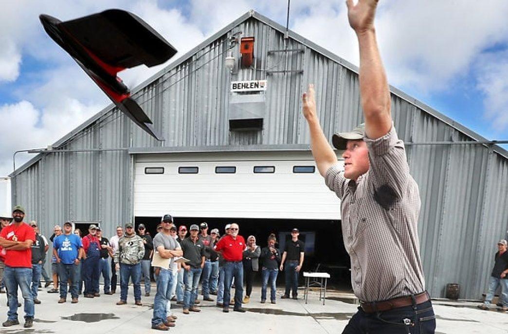 На встрече фермеров в штате Небраска была продемонстрирована работа нового сельскохозяйственного дрона eBee SQ