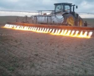 Термическая обработка почвы огнем