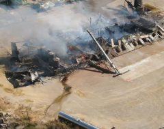 В США сгорело 300 тонн удобрений