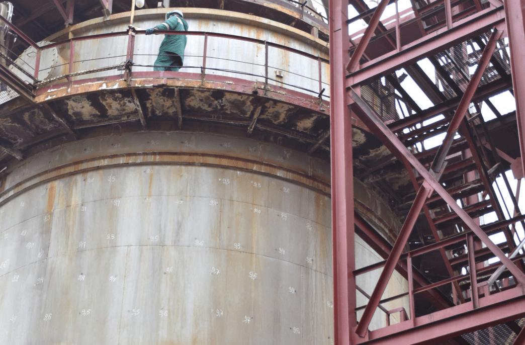 «Воскренские минеральные удобрения» меняют сушильную башню